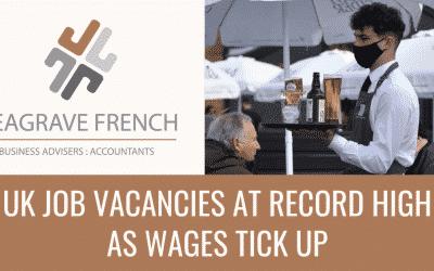 UK job vacancies at record high as wages tick up