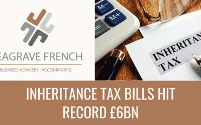 Inheritance tax bills hit record £6bn